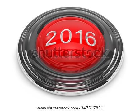 Button start the new year is on white background. - stock photo