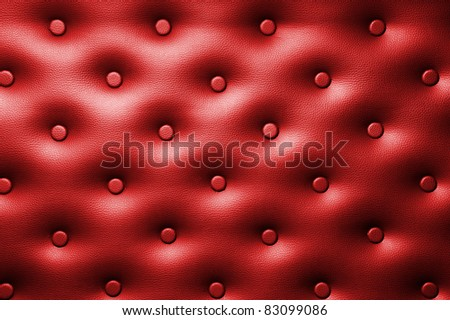 Buttoned leather background - stock photo