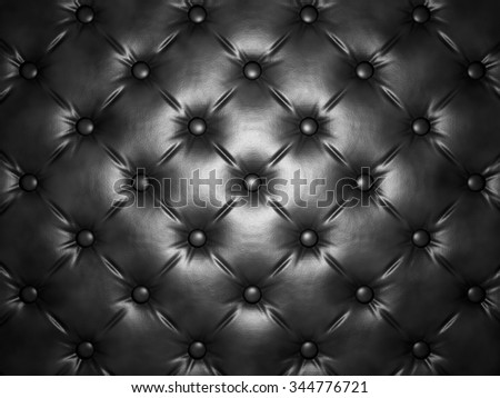 Buttoned luxury leather pattern. Useful as luxury pattern. 3D render - stock photo