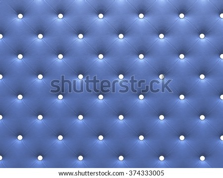 Buttoned on the blue Texture. Repeat pattern. render 3D - stock photo