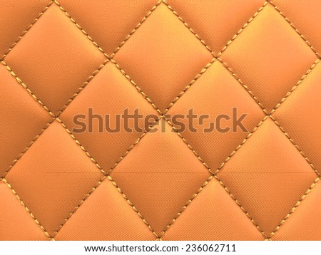 Buttoned on the Gold Texture. Repeat pattern Vintage - stock photo