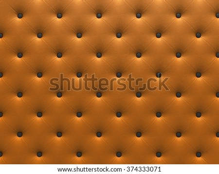 Buttoned on the orange Texture. Repeat pattern. render 3D - stock photo