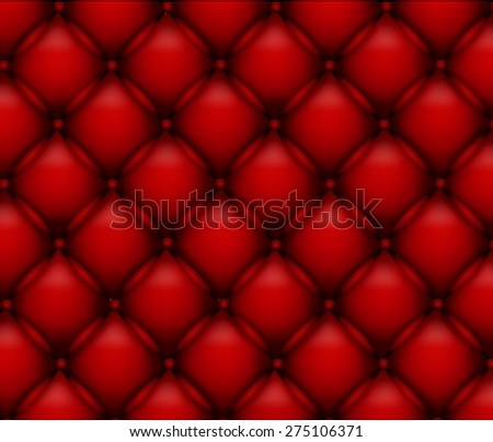 Buttoned on the red Texture - stock photo