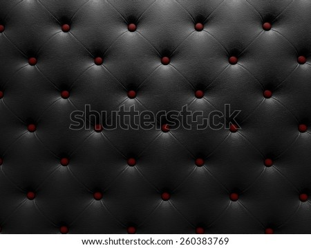 Buttoned on the red Texture. Repeat pattern. render 3D - stock photo