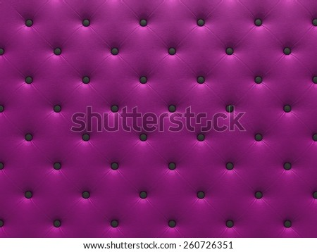 Buttoned purple Texture. Repeat pattern. render 3D - stock photo