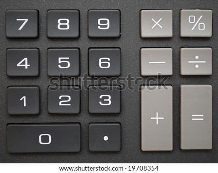 Buttons of a calculator