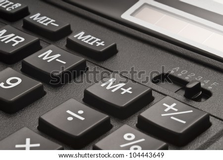 Buttons of calculator - stock photo