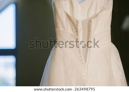 Buttons on a wedding dress