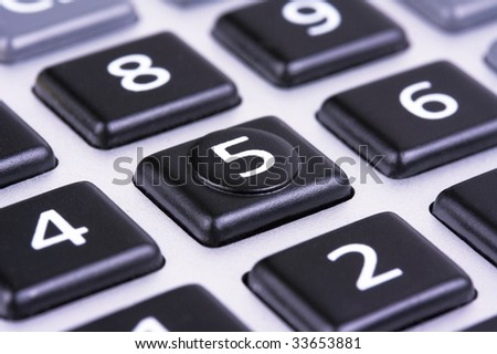 Buttons  on calculator