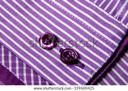 Buttons sleeve shirt.  - stock photo