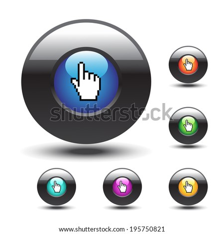 buttons with cursor of hand