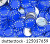 Buttons with EU flag illustration - stock photo