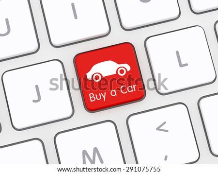 Buy a Car Computer Keyboard - stock photo