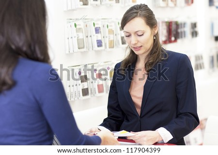 Buy a cell phone - stock photo