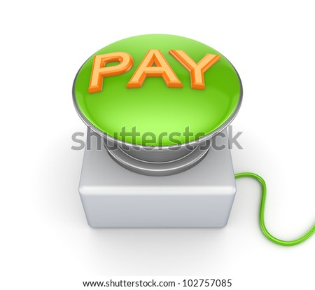 BUY button.Isolated on white background.3d rendered. - stock photo