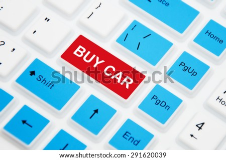Buy Car button on computer keyboard