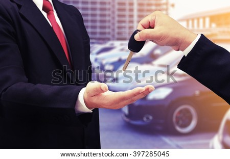 buy car concept background - stock photo