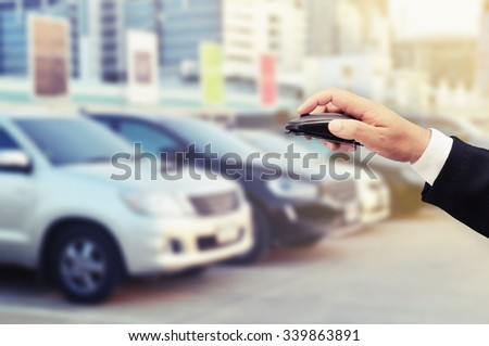 buy car on clicking internet concept
