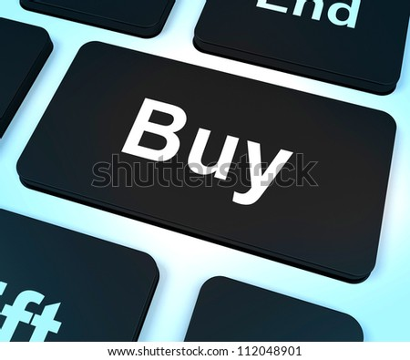 Buy Computer Key Shows Commerce Or Retail