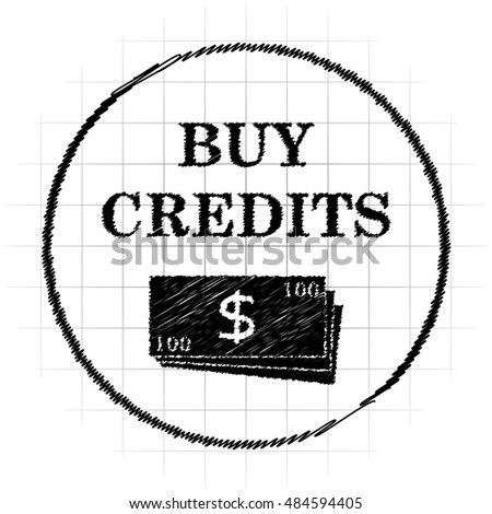 Buy credits icon. Internet button on white background.