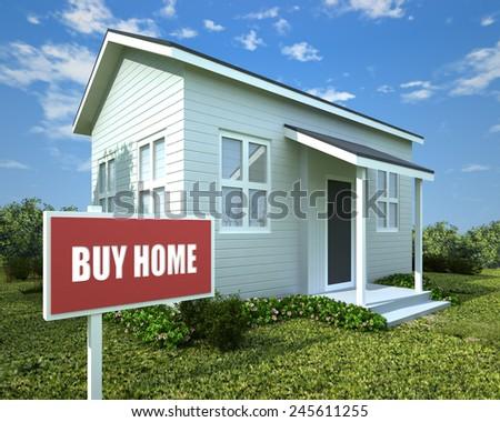 BUY HOME - stock photo