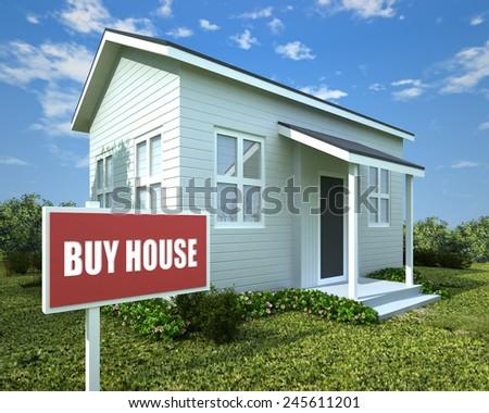 BUY HOUSE - stock photo