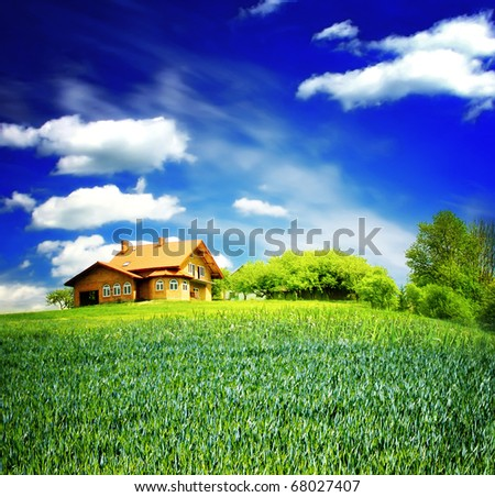 Buy new house - stock photo