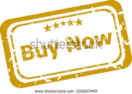 buy now Rubber Stamp over a white background - stock photo