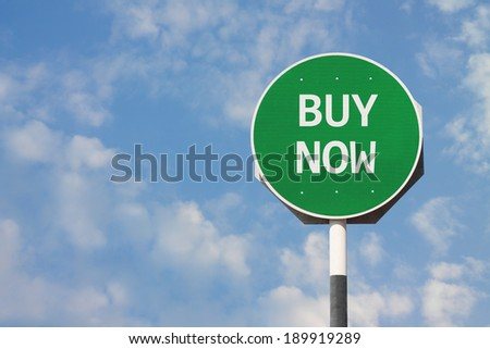 Buy Now Sign
