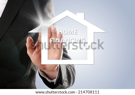 buyers realized his dream of his own house - stock photo