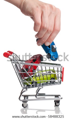 Buying a new Car - stock photo