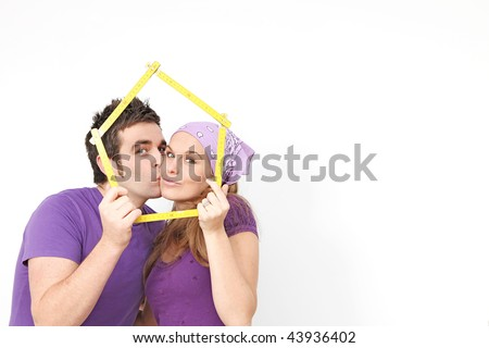buying first home - stock photo