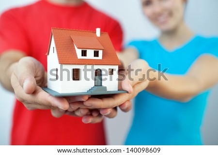 Buying new house concept - stock photo