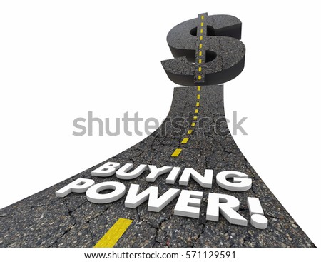 Buying Power Road Words Purchasing Spending 3d Illustration