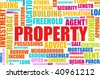 Buying Property in a Real Estate Market - stock vector