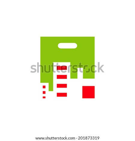Buying Property sign branding identity corporate logo isolated on a white background - stock photo