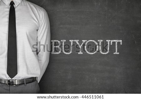 Buyout text on blackboard