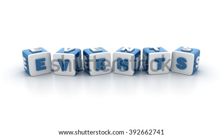Buzzword Blocks Spelling EVENTS Text on White Background - Reflections and Shadows - High Quality 3D Rendering  - stock photo