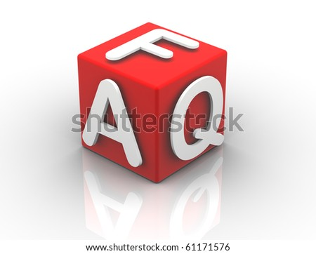 Buzzword Cubes FAQ - stock photo