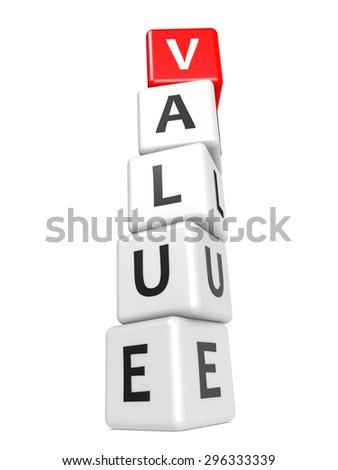 Buzzword value   - stock photo