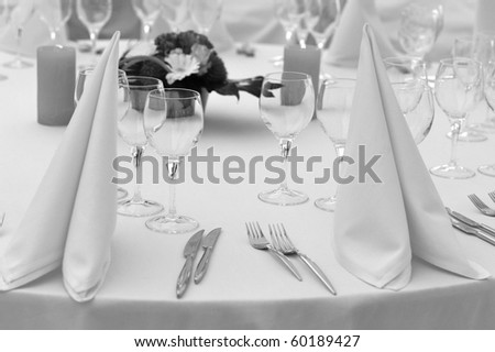 BW catering round table - stock photo