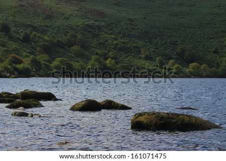 by the lake, Wicklow National Park - stock photo