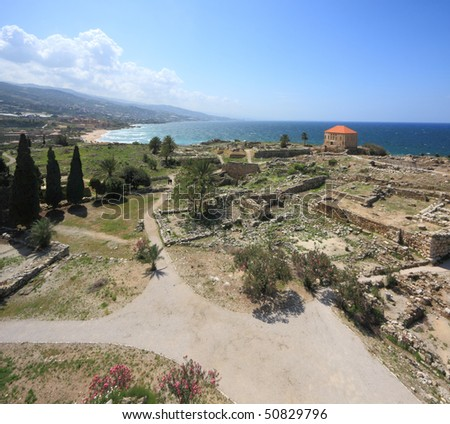 Byblos archaeological landmark (Lebanon) - stock photo