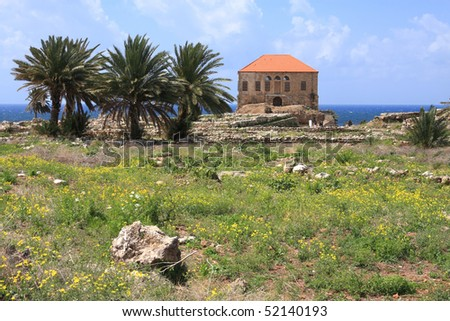 Byblos Archaeological Site, Lebanon - stock photo