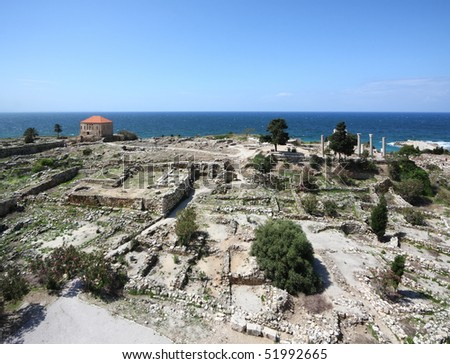 Byblos Landmark Archaeological Site (Lebanon) - stock photo
