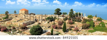byblos old house - stock photo