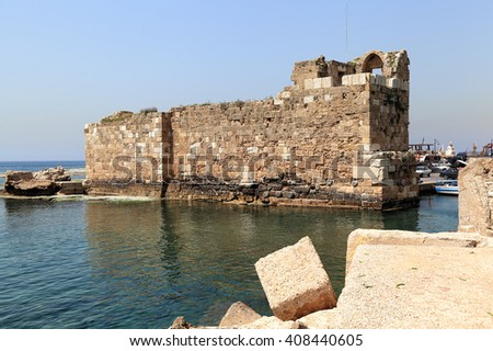 Byblos Sea Fort Remains, Lebanon