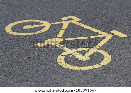 bycicle road sign. - stock photo