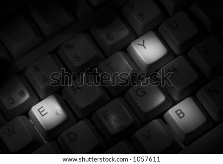 Bye keyboard - stock photo