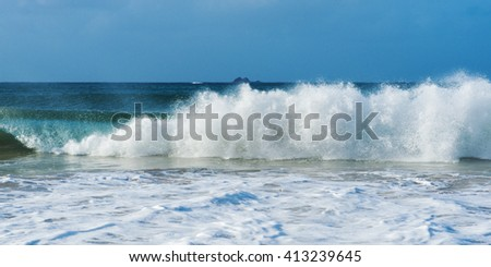 Byron Bay beach waves in New South Wales, Australia